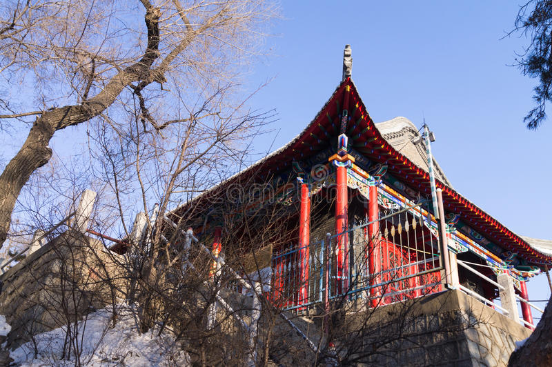 Traditionele Chinese Architectuur stock afbeelding