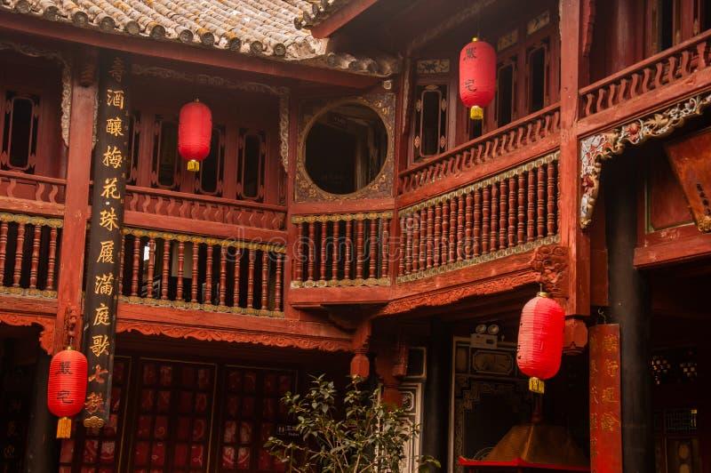 Traditionele Chinese Bai Architecture Style stock foto's