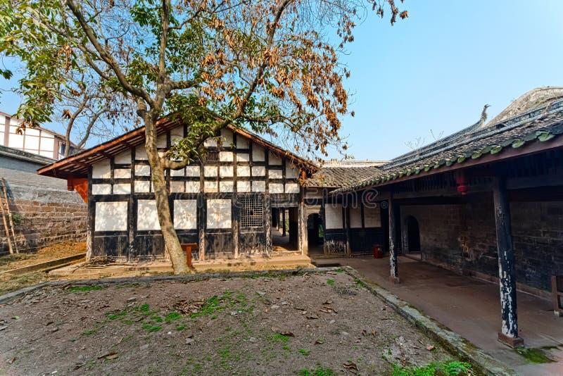Traditionele Chinese binnenplaats stock foto