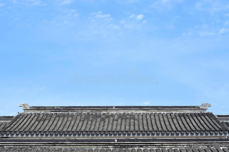 Traditionele Chinese Daktegels, Suzhou, China stock foto