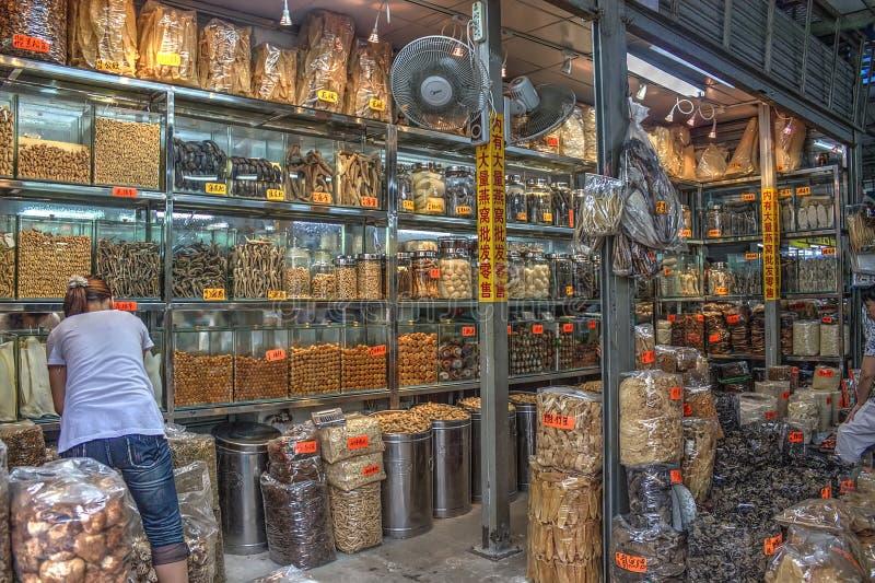 Traditionele Chinese geneeskundewinkel royalty-vrije stock afbeeldingen