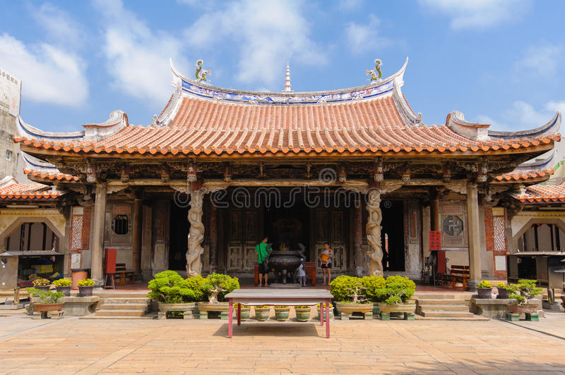 Traditionele Chinese tempel in Taiwan stock fotografie