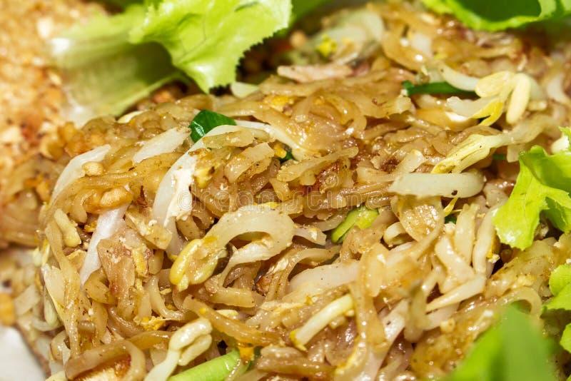 Traditionele close-up van het Padthai de Thaise voedsel royalty-vrije stock afbeeldingen