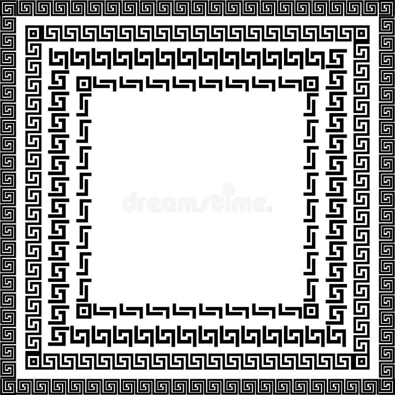 Traditionele eenvoudige meander vector illustratie