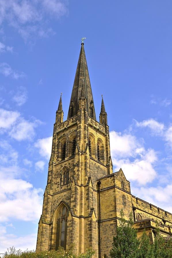 Traditionele Engelse Kerk stock afbeeldingen