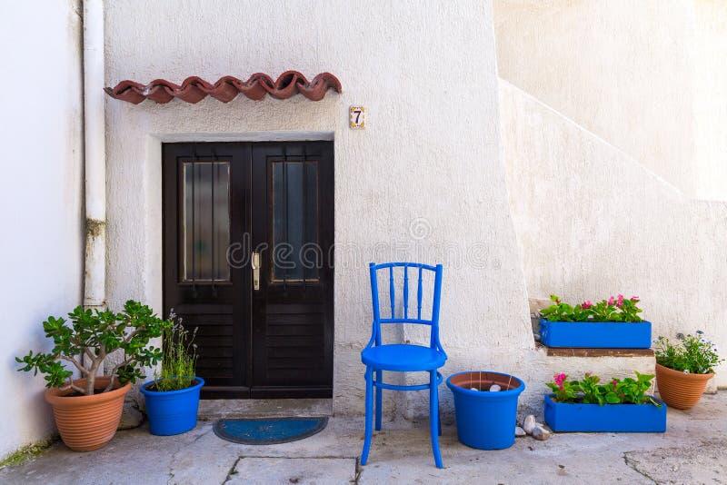Traditionele Europese Mediterrane architecturale stijl in st stock afbeelding