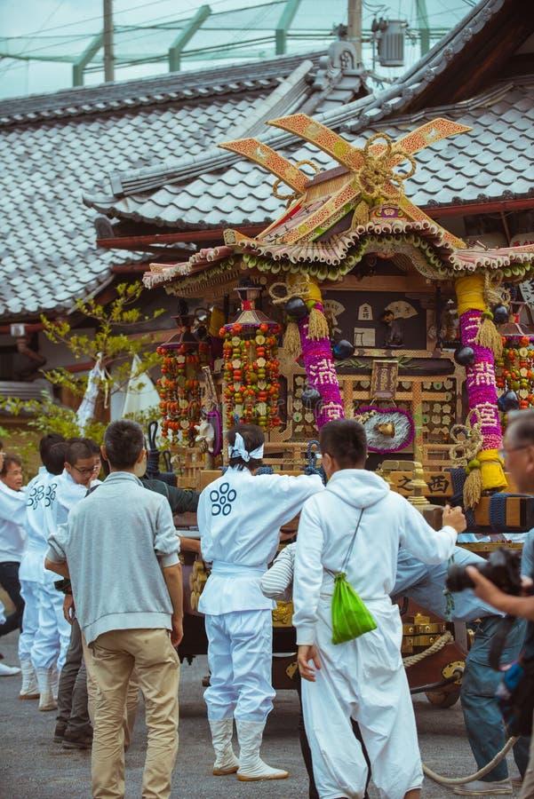 Traditionele festivallen in Kyoto, Japan royalty-vrije stock foto's