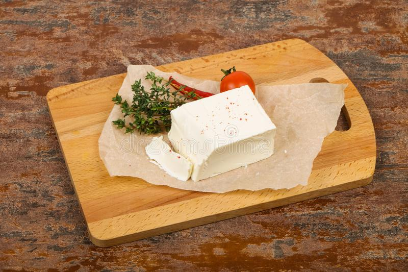 Traditionele feta kaas stock afbeelding