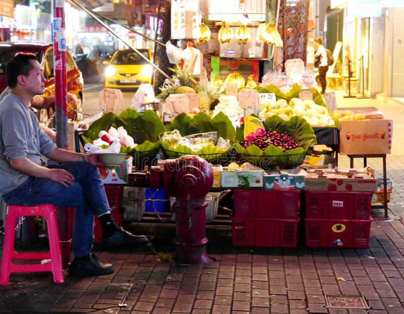 Traditionele Fruitopslag in Hong Kong stock fotografie