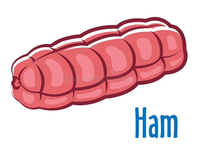 Traditionele gehele ham vector illustratie