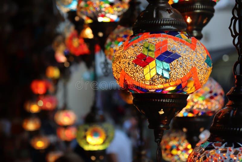 Traditionele gekleurde lampen van bosnia stock foto