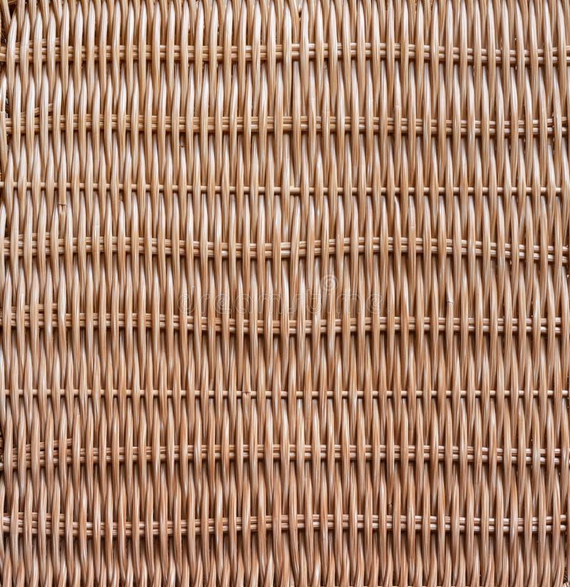 Traditionele Geweven houten de aardtextuur van het rotanpatroon royalty-vrije stock afbeelding