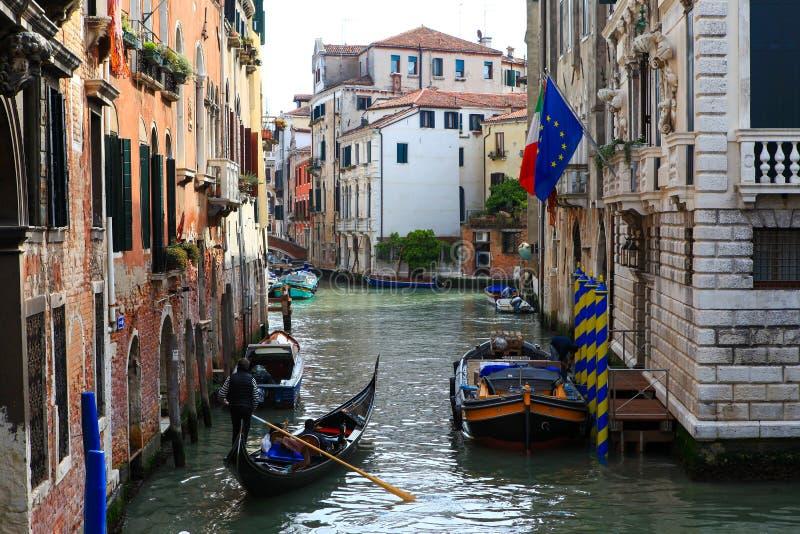 Traditionele Gondels in Venetië royalty-vrije stock fotografie