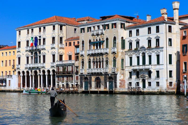 Traditionele Gondels in Venetië royalty-vrije stock foto's