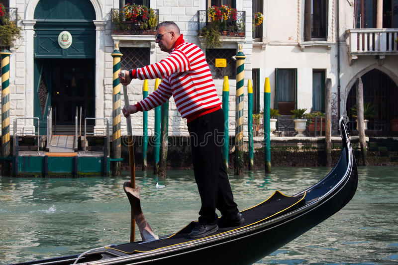 Traditionele Gondels in Venetië royalty-vrije stock afbeelding