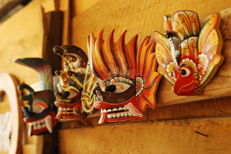 Traditionele herinneringsmaskers van de duivel royalty-vrije stock foto's