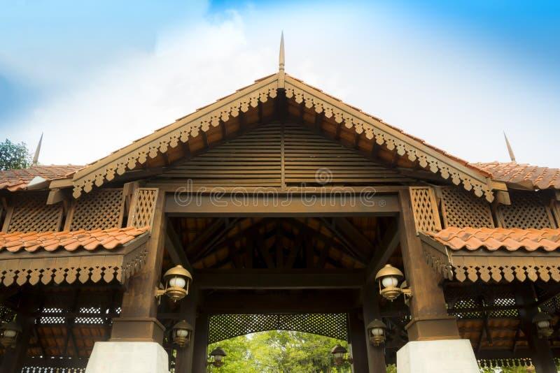 Traditionele het Dakstructuur van Maleisië royalty-vrije stock fotografie