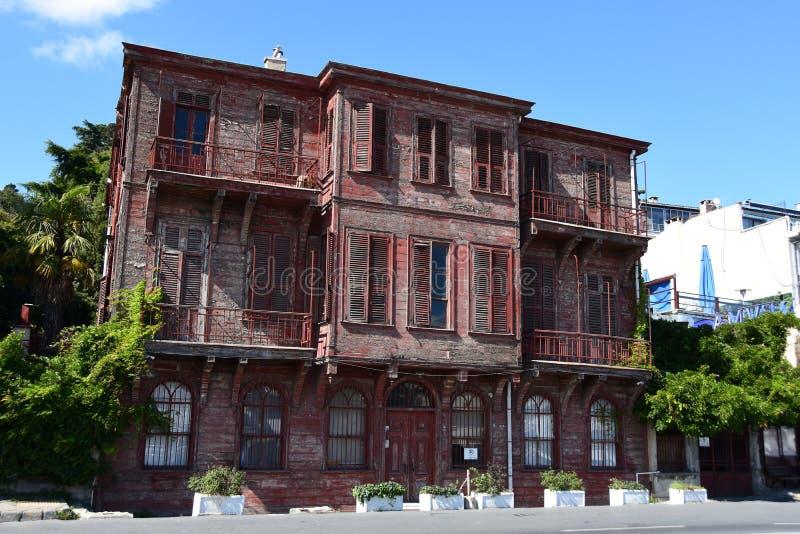 Traditionele, historische, kleurrijke, oude gebouwen royalty-vrije stock afbeelding