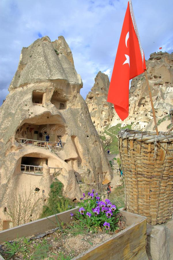 Traditionele holwoning in Cappadocia royalty-vrije stock foto