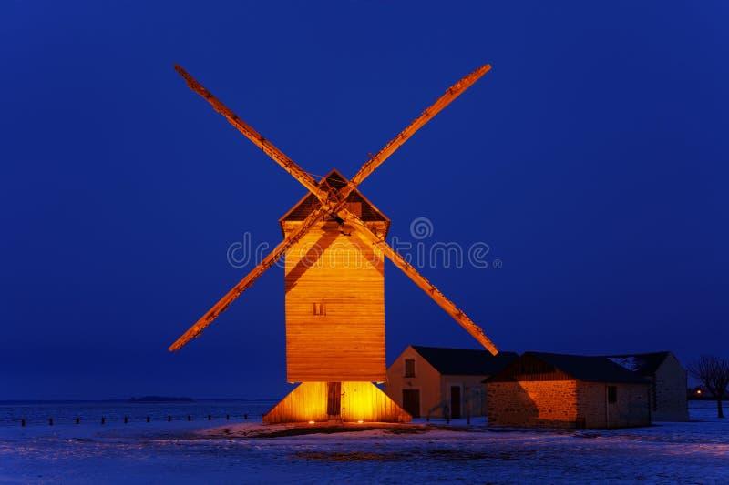 Traditionele houten windmolen
