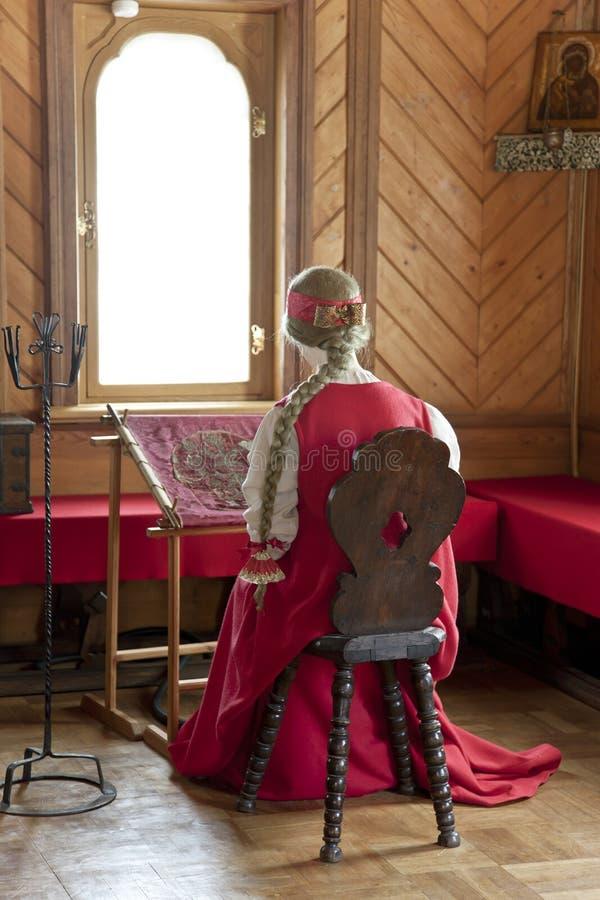 Traditionele huis binnenlandse Russische aristocratie stock foto