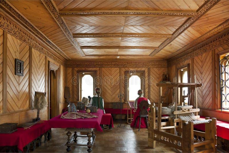 Traditionele huis binnenlandse Russische aristocratie royalty-vrije stock foto's