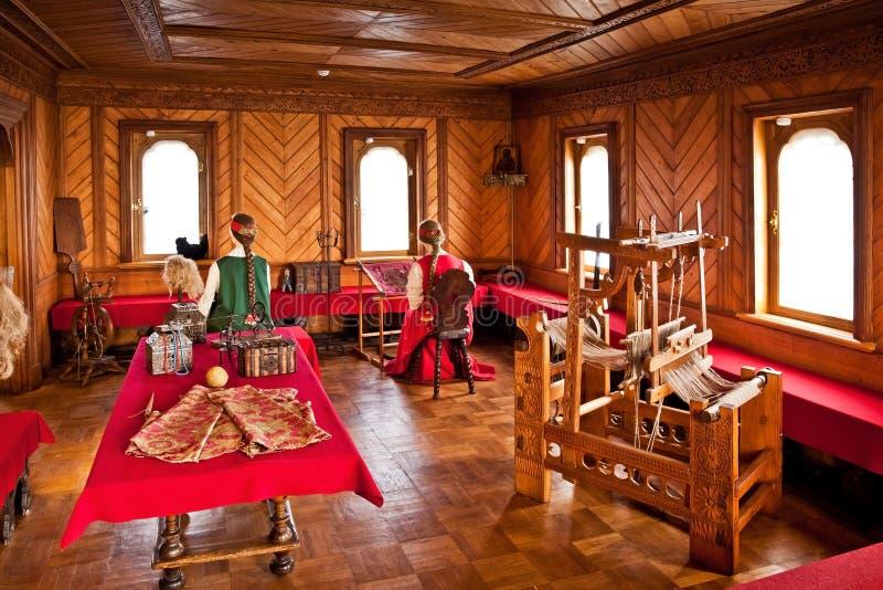 Traditionele huis binnenlandse Russische aristocratie van de zeventiende centur royalty-vrije stock fotografie