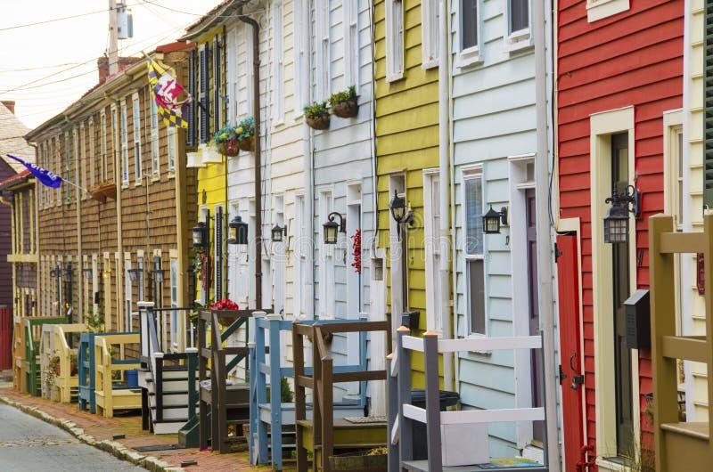 Traditionele huizen in Annapolis royalty-vrije stock foto