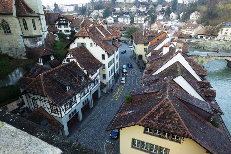 Traditionele Huizen in Bern royalty-vrije stock afbeeldingen