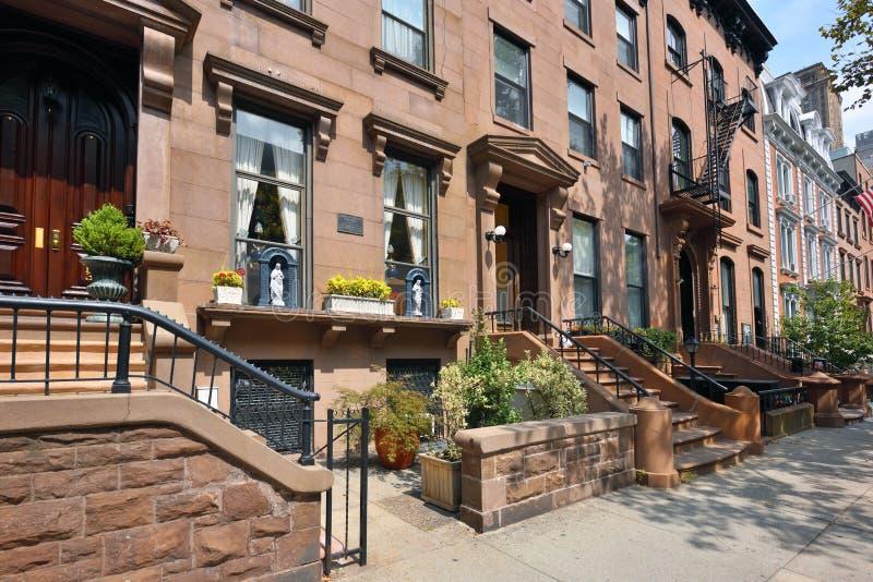 Traditionele huizen in de Hoogten van Brooklyn stock foto's