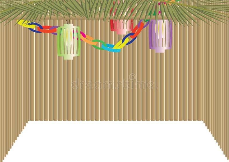Traditionele hut van de Sukkot de Joodse Vakantie royalty-vrije illustratie