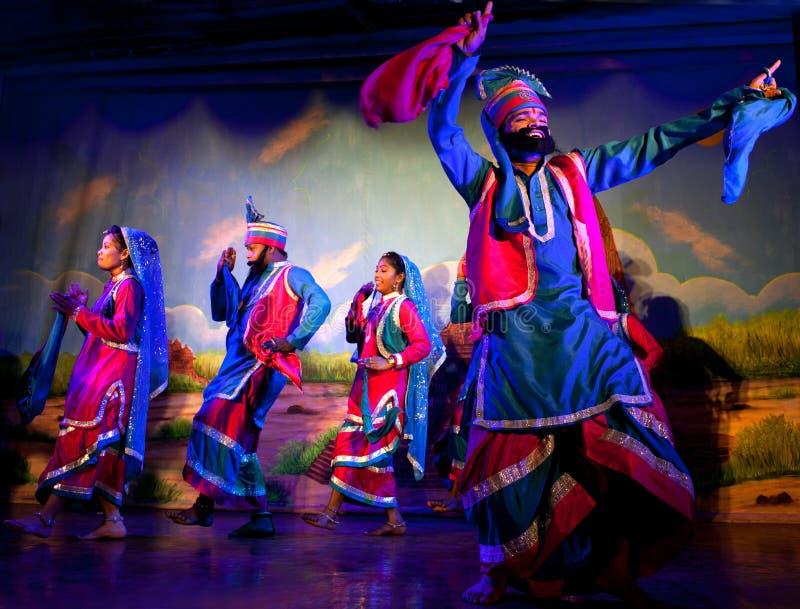 Traditionele Indische Dans in Khajuraho, India royalty-vrije stock fotografie