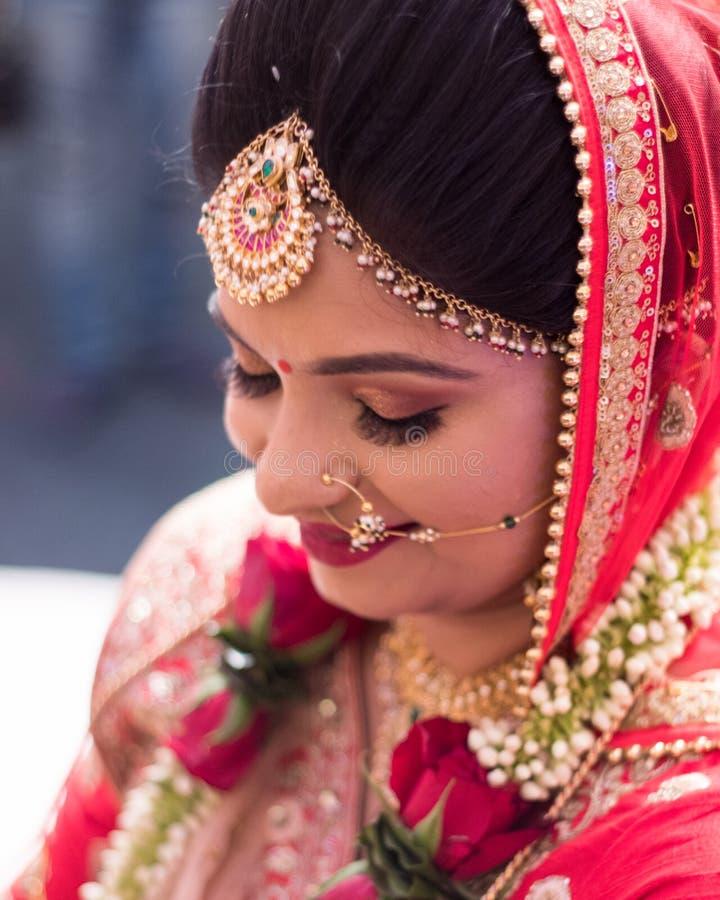 Traditionele Indische huwelijksceremonie - India, Ahmedabad royalty-vrije stock fotografie
