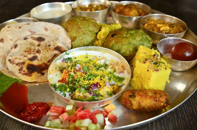 Traditionele Indische vegeterian schotel royalty-vrije stock foto's