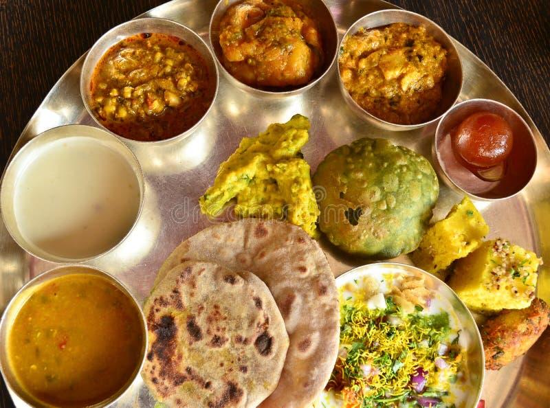 Traditionele Indische vegeterian schotel royalty-vrije stock afbeelding