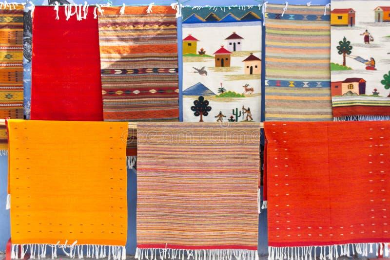 Traditionele inheemse stoffen in Oaxaca Mexico royalty-vrije stock fotografie