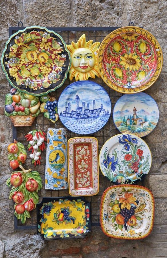 Traditionele Italiaanse keramiek stock afbeelding