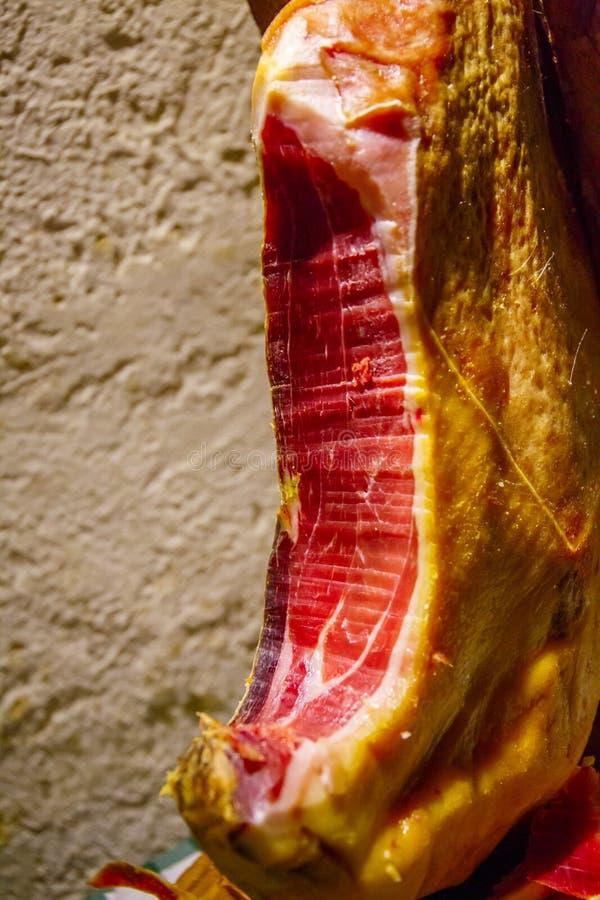 Traditionele Jamon, Spaans vlees stock foto