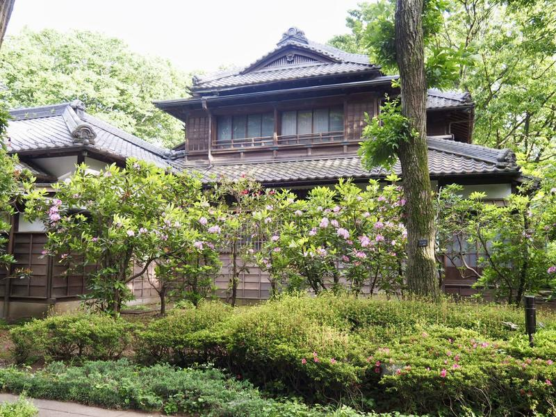 Traditionele Japanse architectuur stock afbeelding