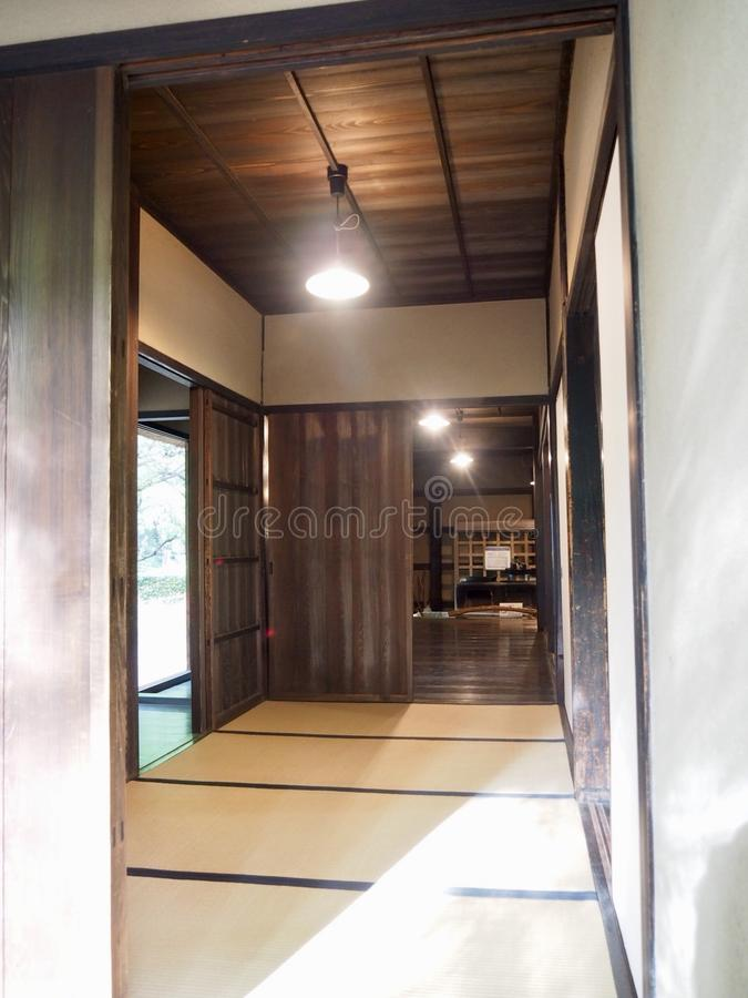 Traditionele Japanse architectuur stock afbeeldingen