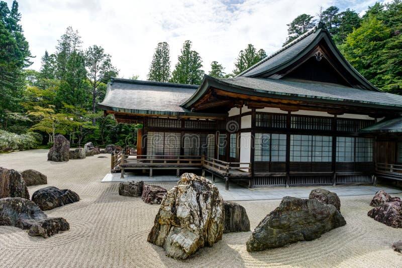 Traditionele Japanse de Woningbouwtempel van de Kongobujitempel met royalty-vrije stock foto's