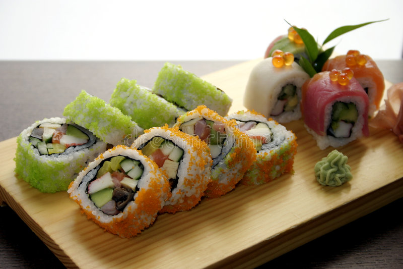 Traditionele Japanse foo van sushi royalty-vrije stock afbeelding