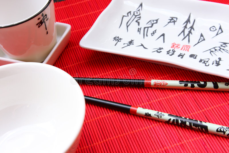 Traditionele Japanse restaurantustensil stock afbeelding