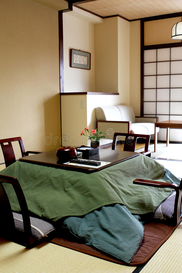 Traditionele Japanse Slaapkamer royalty-vrije stock afbeeldingen