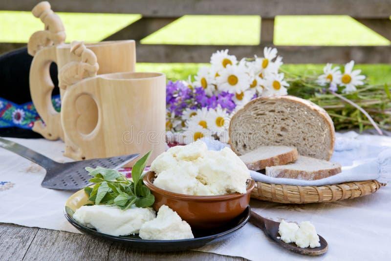 Traditionele kaas. stock afbeeldingen