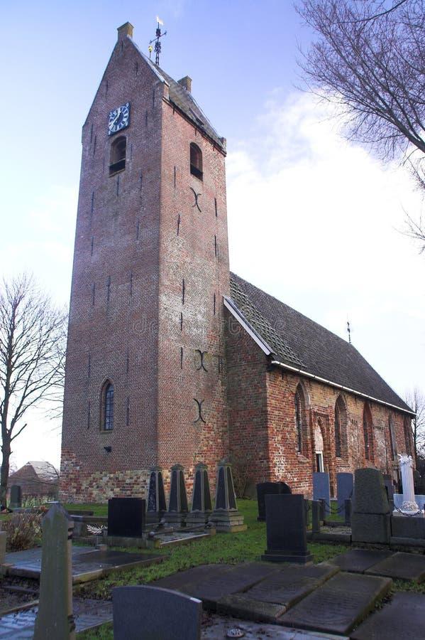 Traditionele kerk Frisian stock afbeeldingen