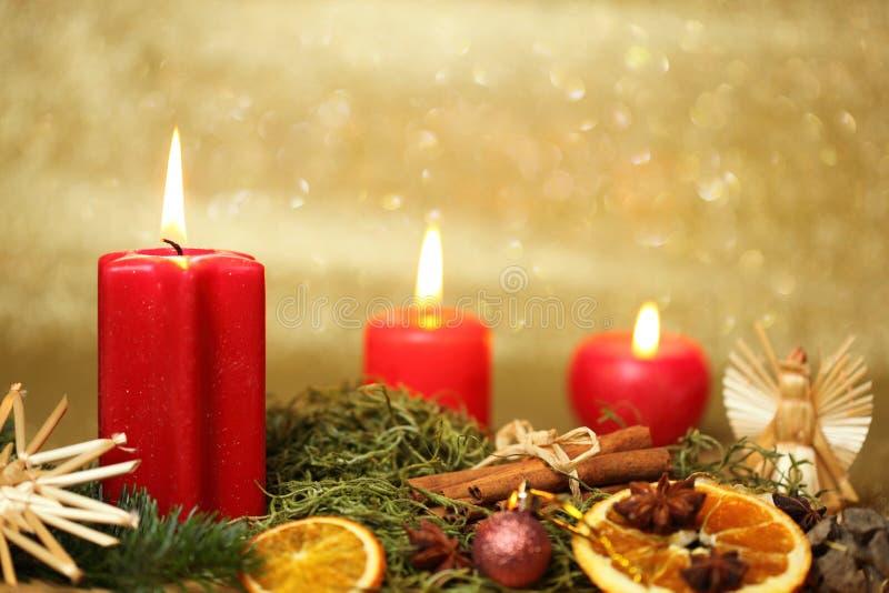 Traditionele Kerstmislichten stock foto's