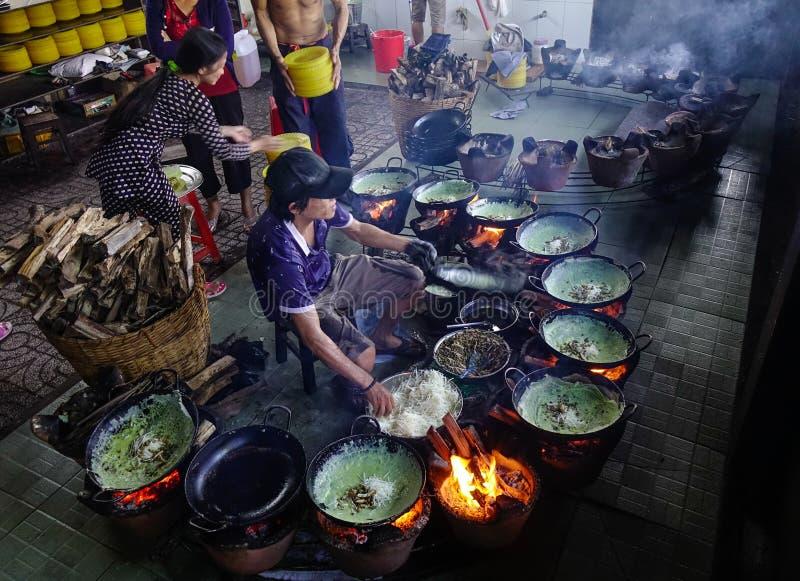 Traditionele keuken in Zuidelijk Vietnam royalty-vrije stock afbeeldingen