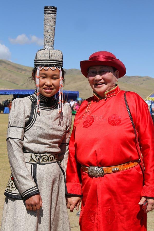 Traditionele kleding van Mongolië royalty-vrije stock foto