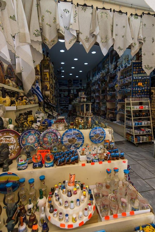Traditionele Kretenzische herinneringen en giften royalty-vrije stock afbeelding